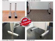Standfüße für gerahmte Infrarotheizungen mit Alurahmen M10 und M23