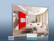 Infrarot Spiegelheizung Bad 400 Watt 70x60 Rahmen M23