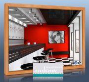 Infrarot Spiegelheizung 400 Watt 70x60 HB30