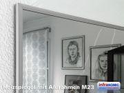 Infrarot Spiegelheizung Bad 600 Watt ESG Glas 110x60 Rahmen M23