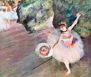 Degas: Tänzerin mit Blumenstrauß Bildauswahl für Bildheizung 70x60