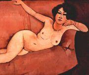 Modigliani: Akt auf Sofa Bildauswahl für Bildheizung 70x60