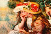 Renoir: Zwei lesende Mädchen Bildauswahl für Bildheizung 90x60