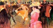 Lautrec: Ball im Moulin Rouge für Infrarot Bildheizung 110x60