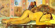 Gauguin: Nevermore Kunstmotiv für Infrarot Bildheizung 110x60