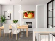 infrarot Bildheizung 500 Watt 90x60 Holzrahmen HB30 Litho Äpfel