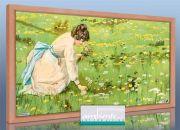 Infrarot Bildheizung 600 Watt 110x60 HB30 Blumenpflückerin