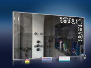 Design Spiegel mit Infrarotheizung 600 Watt 110x60 M10 Blumenranke